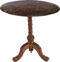 Furniture , AN OVAL CARVED WOOD TEA TABLE WITH SLATE TOP, 19th century. 25 x 27 x 19 inches (63.5 x 68.6 x 48.3 cm). ...