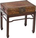 Furniture , A CHINESE PAPIER MACHE LAP DESK AND STAND, 19th century. 22 x 21-1/2 x 14-1/2 inches (55.9 x 54.6 x 36.8 cm) (including stan... (Total: 2 Items)