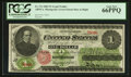 Large Size:Legal Tender Notes, Fr. 17a $1 1862 Legal Tender PCGS Gem New 66PPQ.. ...