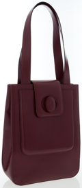 Luxury Accessories:Bags, Cartier Burgundy Leather Tote Bag. ...