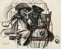 Animation Art:Production Drawing, Ben and Me Amos the Mouse Concept Sketch Animation Drawing(Walt Disney, 1953)....