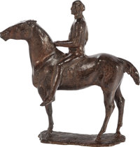 FLOYD T. DEWITT (American, b. 1934) The Inheritor, 1998 Bronze with brown patina 32-3/4 inches (8