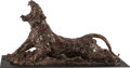 Fine Art - Sculpture, American:Contemporary (1950 to present), JONATHAN KENWORTHY (British/American, b. 1943). StretchingTiger, 2002. Bronze with brown patina. 16-3/4 inches (42.55c...
