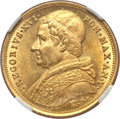 Italy, Italy: Papal States. Gregory XVI gold 10 Scudi 1835-R Anno V MS64NGC,...