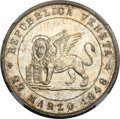 Italy: , Italy: Venice. Republic Revolutionary 5 Lire 1848-V MS65 NGC,...