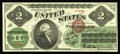Large Size:Legal Tender Notes, Fr. 41 $2 1862 Legal Tender Gem New. Superb but for a slightlytight right face margin. The rest of the margins are huge, th...
