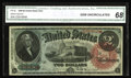 Large Size:Legal Tender Notes, Fr. 42 $2 1869 Legal Tender CGA Gem Uncirculated 68. Off the marketsince a 1998 Smythe sale. The note is hugely margined, w...