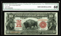 Large Size:Legal Tender Notes, Fr. 115 $10 1901 Legal Tender CGA Gem Uncirculated 68. Fr. 115s area scarcer Bison number, particularly in uncirculated gra...