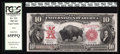 Large Size:Legal Tender Notes, Fr. 121 $10 1901 Legal Tender PCGS Gem New 65PPQ. This Bison hasevery attribute to satisfy the perfectionist, micrometer pe...
