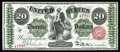 Large Size:Legal Tender Notes, Fr. 126b $20 1863 Legal Tender Gem New. This gorgeous note falls right in the middle of a short run of lovely uncirculated n...