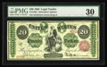Large Size:Legal Tender Notes, Fr. 126b $20 1863 Legal Tender PMG Very Fine 30. This lightlycirculated example has excellent color and razor sharp corners...
