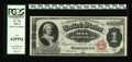 Large Size:Silver Certificates, Fr. 215 $1 1886 Silver Certificate PCGS New 62PPQ. The note certainly carries the visual appeal of a higher grade....