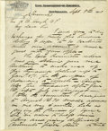 """Autographs:Military Figures, Confederate General John Bell Hood Autograph Letter Signed """"J B Hood"""". Five pages, 8"""" x 10"""", mounted to a larger 9.75"""" x... (Total: 1 Item)"""