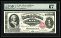 Large Size:Silver Certificates, Fr. 222 $1 1891 Silver Certificate PMG Superb Gem Unc 67. This issimply a gorgeous Martha that is well margined and quite c...