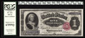 Large Size:Silver Certificates, Fr. 223 $1 1891 Silver Certificate PCGS Superb Gem New 67PPQ. Fromour sale of the Malcolm Trask Collection, where it was de...