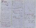 Autographs:Military Figures, Henry A. Wise, Confederate Brigadier General, Autograph Letter Signed, with Autograph Additions by Other Officers, Including G...