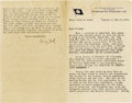 "Autographs:Inventors, Henry Ford Typed Letter Signed in full. 3.5 pages, 5.25"" x 8.25"",foldover lettersheet from the Scandinavian - American - Li..."