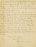 """Autographs:Military Figures, William T. Sherman Autograph Letter Signed """"W. T. Sherman"""". Four pages, lined beige bifolia, 8"""" x 10.5"""", February 16, 18... (Total: 1 Item)"""