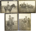 Photography:Cabinet Photos, HISTORIC SET OF FOUR REAL COWGIRL REPRINT SHOTS - ca. 1900. A veryrare and unique set of early silver-nitrate period reprin...(Total: 1 Item)