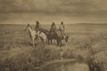 """Photography:Official Photos, """"THREE CHIEFS-PIEGAN"""" PHOTOGRAVURE SIGNED CURTIS ca 1900. EdwardSheriff Curtis (1868-1952) was a photographer of the Americ...(Total: 1 Item)"""