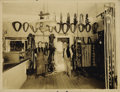 "Photography:Cabinet Photos, EARLY CALIFORNIA SHOPKEEPERS. Handsome sepia 10"" x 8½"" image of theinterior of a tack and harness shop in Kelseyville, CA, ... (Total:1 Item)"