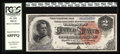 """Large Size:Silver Certificates, Fr. 242 $2 1886 Silver Certificate PCGS Superb Gem New 68PPQ. """"Aglorious Hancock Deuce, with huge margins, ideal colors and..."""