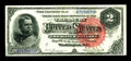 Large Size:Silver Certificates, Fr. 242 $2 1886 Silver Certificate Choice About New. A gorgeous Hancock Deuce, with fresh, original surfaces, deep embossing...