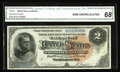 """Large Size:Silver Certificates, Fr. 243 $2 1886 Silver Certificate CGA Gem Uncirculated 68. We soldthis note once before as a """"raw"""" Gem in September of 199..."""