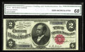 Large Size:Silver Certificates, Fr. 245 $2 1891 Silver Certificate CGA Gem Uncirculated 68. ASuperb looking Windom, with bold, original embossing that is e...