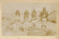 Photography:Cabinet Photos, GERONIMO WITH SON & 20 APACHE BRAVES TWO CABINET CARDS ca 1886. Geronimo was a prominent Native American leader of Chiricahu... (Total: 1 Item)