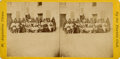 Photography:Stereo Cards, STEREOVIEW OF CHEYENNE PRISONERS AT FORT MARION, 1875. In 1875, a group of Comanche, Cheyenne, and Arapahoe were condemned t... (Total: 1 Item)