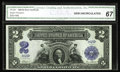 Large Size:Silver Certificates, Fr. 254 $2 1899 Silver Certificate CGA Gem Uncirculated 67. Last onthe market in May 2001 when it realized the then very st...
