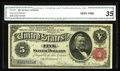 Large Size:Silver Certificates, Fr. 266 $5 1891 Silver Certificate CGA Very Fine 35. This is atough type to obtain even in the higher circulated grades....