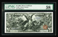 Large Size:Silver Certificates, Fr. 268 $5 1896 Silver Certificate PMG Choice About Unc 58. Thisgorgeous Educational appears to be a higher grade in the ho...