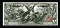 Large Size:Silver Certificates, Fr. 268 $5 1896 Silver Certificate Choice About New. The faintcenter fold on this beautiful $5 Ed had to be coaxed out from...