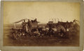 Western Expansion:Cowboy, A RARE PHOTOGRAPH OF A COWBOY CAMP SCENE - This rarity of this camp scene results from the inclusion of a chuck wagon and be... (Total: 1 Item)