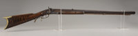 """PERCUSSION HALF-STOCK STYLE PLAINS RIFLE. Barrel marked I. or J. Nagle on top flat and """"Remington"""" at breach..."""