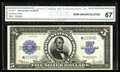 Large Size:Silver Certificates, Fr. 282* $5 1923 Silver Certificate Star CGA Gem Uncirculated 67.This Star Porthole has huge margins all the way around, an...