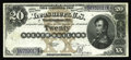 Large Size:Silver Certificates, Fr. 311 $20 1880 Silver Certificate Extremely Fine. Off the marketsince it was acquired by our consignor from a 1975 Lyn Kn...