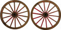 Western Expansion:Cowboy, RED RIVER CART WHEELS - These could have been off a logging draft(2 wheel cart to pull logs) from the Red River in Minnesot...