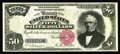 Large Size:Silver Certificates, Fr. 330 $50 1891 Silver Certificate About New. A major rarity and abeautiful example. There are only six known Fr. 330's, o...