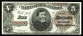 Large Size:Treasury Notes, Fr. 359 $5 1890 Treasury Note New+. This Coin Note has been auctioned twice before. It's only kept from a higher grade due t...