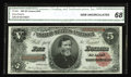 Large Size:Treasury Notes, Fr. 364 $5 1891 Treasury Note CGA Gem Uncirculated 68. A very handsome Treasury Five that boasts super paper and ink color, ...