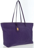 Luxury Accessories:Bags, Fendi Purple Leather Selleria Tote Bag. ...