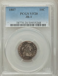 Early Dimes, 1807 10C JR-1, R.2, VF20 PCGS. PCGS Population (3/5). NGC Census:(4/207). Mintage: 165,000. ...
