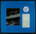 Baseball Collectibles:Others, 1969 Harry Caray Signed Receipt Display....