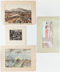 Books:Original Art, Collection of Miscellaneous Art School Prints and Pieces by Various Other Artists, Connection to Williams Unknown. Includes ... (Total: 12 Items)