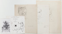 Large Lot of Miscellaneous Drawings. Includes several proofs for various cards, including an invitation to Williams'