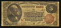 National Bank Notes:Missouri, Saint Louis, MO - $5 1882 Brown Back Fr. 474 The Merchants-LacledeNB Ch. # (M)5002. ...