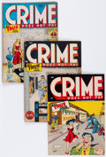 Golden Age (1938-1955):Crime, Crime Does Not Pay Group (Lev Gleason, 1945-47) Condition: Average VG/FN.... (Total: 5 Comic Books)